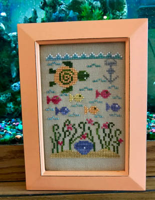 Pickle Barrel Designs - Seascape-Pickle Barrel Designs - Seascape, BEACH, ocean, fishes, cross stitch
