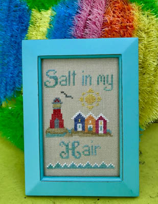 Pickle Barrel Designs - Salty Hair-Pickle Barrel Designs - Salty Hair, beach ocean, sand, cross stitch