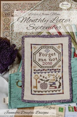 Jeannette Douglas Designs - Letters From Mom 02 - September-Jeannette Douglas Designs - Letters From Mom 2 - September, Forget me not, mothers, letters of love, cross stitch