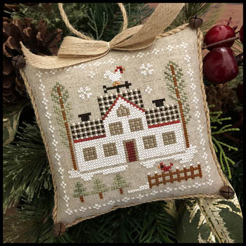 Little House Needleworks - Farmhouse Christmas - Part 7 - Cock-a-doodle-do-Little House Needleworks - Farmhouse Christmas - Part 7 - Cock-a-doodle-do