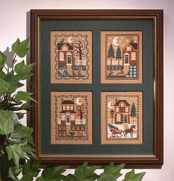 Prairie Schooler - Four Seasons-Prairie Schooler - Four Seasons, Classic designs, winter, fall, summer, spring, Christmas, cross stitch
