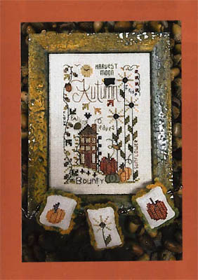 Shepherd's Bush - Autumn Notes-Shepherds Bush - Autumn Notes, Thanksgiving, crow, Fall, home, pumpkin, cross stitch
