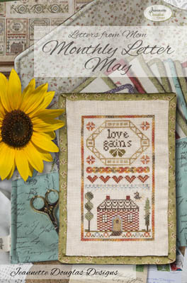 Jeannette Douglas Designs - Letters From Mom 10 - May-Jeannette Douglas Designs - Letters From Mom 10 - May, flowers, love, mothers, children, cross stitch