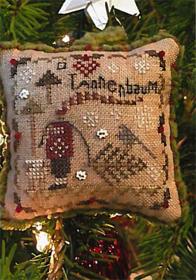 Shepherd's Bush - 2018 Ornament - O Tannenbaum-Shepherds Bush - 2018 Ornament - O Tannenbaum, Christmas, decorations, Christmas tree, cross stitch, sheep,