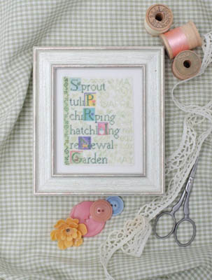 Erica Michaels Needleart - Defining Spring-Erica Michaels Needleart Designs - Defining Spring, flowers, pincushion, cross stitch