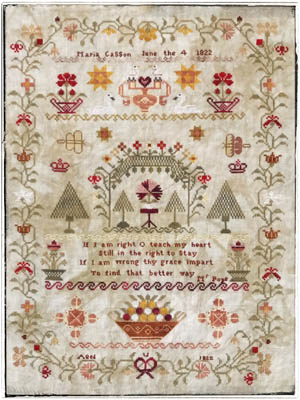 Lucy Beam Love in Stitches - Maria Casson 1822-Lucy Beam Love in Stitches - Maria Casson 1822., sampler, history, aged 12, stitched, cross stitch,