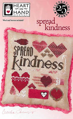 Heart in Hand Needleart - Spread Kindness-Heart in Hand Needleart - Spread Kindness, hearts, niceness, love, cross stitch