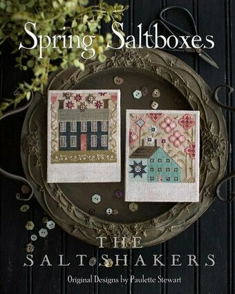 Plum Street Samplers - The Salt Shakers - Spring Saltboxes-Plum Street Samplers - The Salt Shakers - Spring Saltboxes