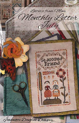 Jeannette Douglas Designs - Letters From Mom 12 - July-Jeannette Douglas Designs - Letters From Mom 12 - July, friends, bff, old friends, cross stitch