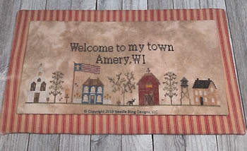 Needle Bling Designs - My Town-Needle Bling Designs - My Town, hometown, houses, families, neighborhood, cross stitch