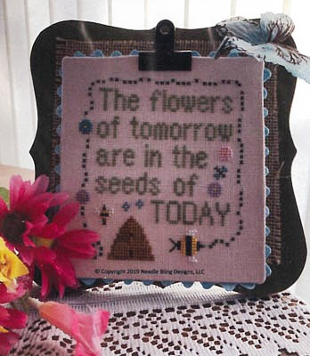Needle Bling Designs - Flower Seeds-Needle Bling Designs - Flower Seeds, garden, flowers, cross stitch