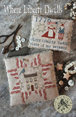 With Thy Needle & Thread - Where Liberty Dwells-With Thy Needle  Thread - Where Liberty Dwells, patriotic, USA, pillows,