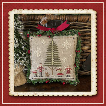 Little House Needleworks - Jack Frost's Tree Farm - Part 3 Family Fun-Little House Needleworks - Jack Frosts Tree Farm - Part 3 Family Fun, mom, dad, kids, brother, sister, Christmas tree, cross stitch