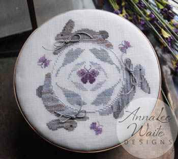 Annalee Waite Designs - Rabbit Round-Annalee Waite Designs - Rabbit Round, bunny, Easter, flowers, spring, cross stitch pin cushion
