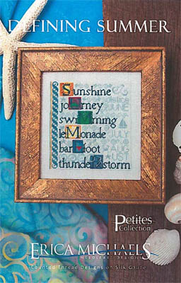 Erica Michaels Needleart Designs - Defining Summer-Erica Michaels Needleart Designs - Defining Summer, sunshine, sailboat, waves, cross stitch