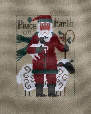 Prairie Schooler - 2019 Santa-Prairie Schooler - 2019  Santa, Santa Claus, Sheep, Lamb, cross stitch