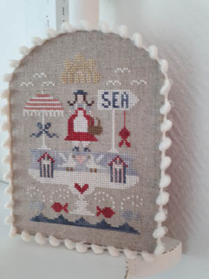 Tralala - Coupe d'ete-Tralala - Coupe dete, ocean, beach, hearts, sand, waves, fish, cross stitch