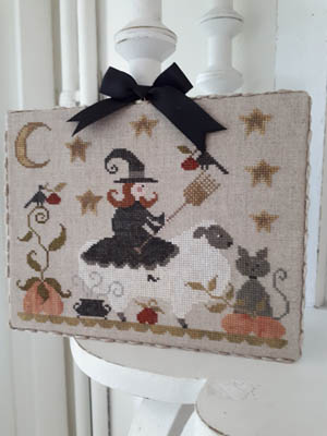 Tralala - Mouton D'Halloween-Tralala - Mouton DHalloween, sheep, witch, black cat, pumpkins, autumn, cross stitch