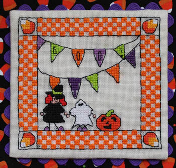 Luhu Stitches - Boo!-Luhu Stitches - Boo, Halloween, costumes, trick or treat, cross stitch, pumpkin,