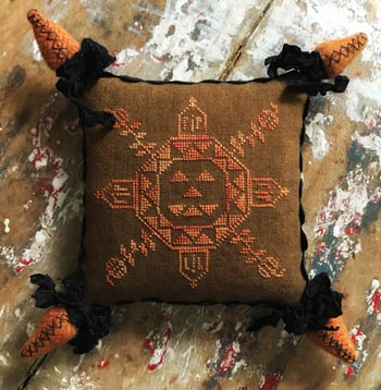 Lucy Beam Love in Stitches - Quaker Pumpkin 🎃-Lucy Beam Love in Stitches - Quaker Pumpkin , fall, pumpkins, pin cushion, cross stitch