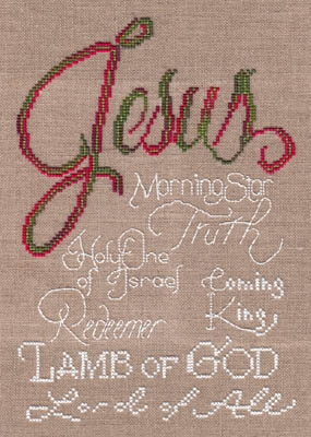 MarNic Designs - Jesus-MarNic Designs - Jesus, morning star, Holy, Lamb of God, Lord of All, cross stitch
