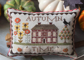 Abby Rose Designs - Autumn Time-Abby Rose Designs - Autumn Time, fall, leaves, pumpkin, cross stitch, home,