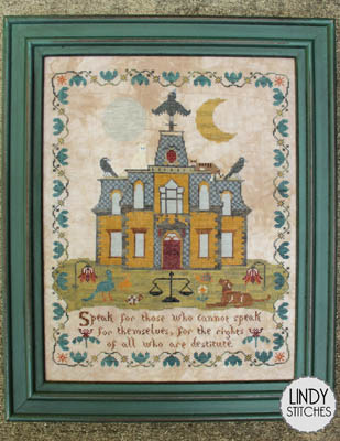 Lindy Stitches - Emily's House-Lindy Stitches - Emilys House, children, helping, charity, home, animals, shelters, cross stitch