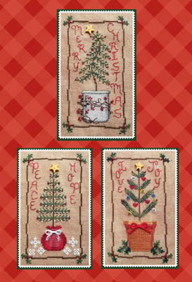 Waxing Moon Designs - Christmas Tree Trio-Waxing Moon Designs - Christmas Tree Trio, Christmas, gifts, family, ornaments, cross stitch