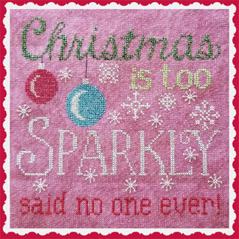 Waxing Moon Designs - Sparkly Christmas-Waxing Moon Designs - Sparkly Christmas, sparkle, bright, ornament, cross stitch, Christmas
