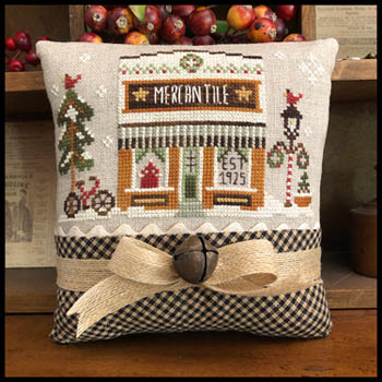 Little House Needleworks - Hometown Holiday - The Mercantile-Little House Needleworks - Hometown Holiday - The Mercantile, store, town, cross stitch