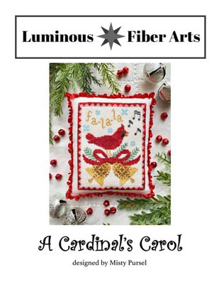 Luminous Fiber Arts - Cardinal's Carol-Luminous Fiber Arts - Cardinals Carol, Christmas, ornament, Christmas tree, cross stitch