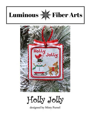 Luminous Fiber Arts - Holly Jolly-Luminous Fiber Arts - Holly Jolly, Christmas, ornament, cross stitch