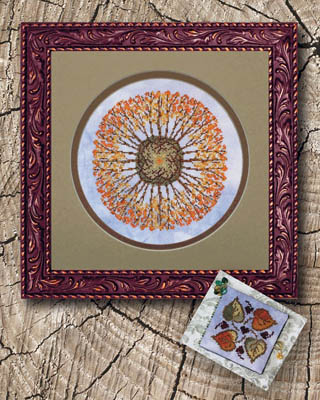 Ink Circles - Aspen Mandala-Ink Circles - Aspen Mandala - Fall, trees, cross stitch