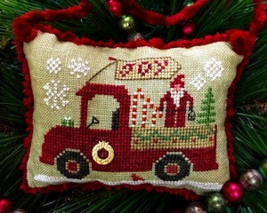 Homespun Elegance - Country Spirits Collection - Christmas Joy Truck-Homespun Elegance - Country Spirits Collection - Christmas Joy Truck, Christmas, Tree, delivering, cross stitch