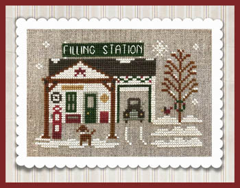 Little House Needleworks - Hometown Holiday - Pop's Filing Station-Little House Needleworks - Hometown Holiday - Pops Filing Station, cross stitch, series, gas station, village,