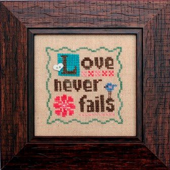 Heart in Hand Needleart - Love Never Fails-Heart in Hand Needleart - Love Never Fails, Valentines Day, hearts, love, marriage, cross stitch