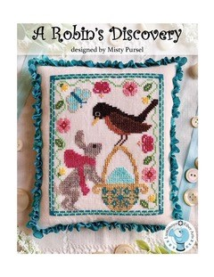 Luminous Fiber Arts - A Robin's Discovery-Luminous Fiber Arts - A Robins Discovery, Easter egg, Easter bunny, birds, spring, cross stitch