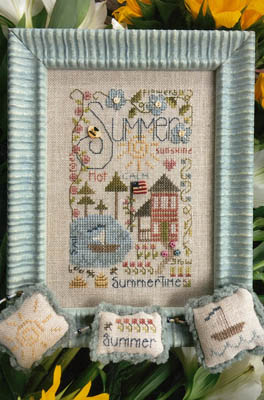 Shepherd's Bush - Summer Notes-Shepherds Bush - Summer Notes, sunshine, sailing, ocean, playing, children, cross stitch