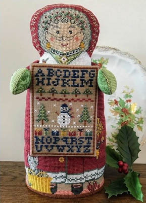 The Needle's Notion - Mrs. Santa's Sampler-The Needles Notion - Mrs. Santas Sampler, Christmas, Mrs. Claus, samplers, wife, cross stitch