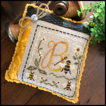 Little House Needleworks - Stitching Bee-Little House Needleworks - Stitching Bee, bees, beehive, pin cushion, cross stitch