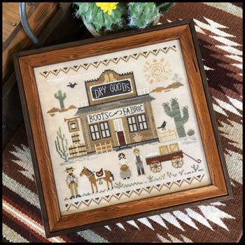 Little House Needleworks - Old West Dry Goods-Little House Needleworks - Old West Dry Goods, country, cowboy, western, cross stitch, country store, horses,