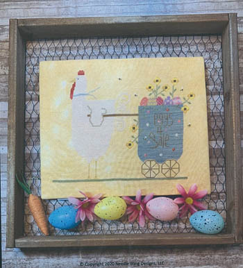 Needle Bling Designs - Spring Chicken-Needle Bling Designs - Spring Chicken, Easter, Easter eggs, Spring, flowers, country, cross stitch