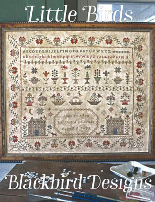 Blackbird Designs - Little Birds-Blackbird Designs - Little Birds, cross stitch, sampler,