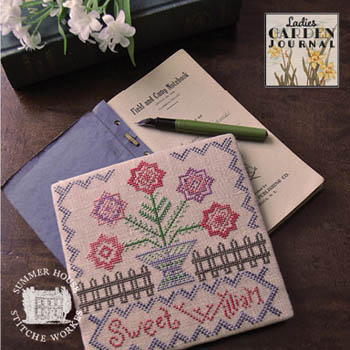 Summer House Stitche Workes - Ladies Garden Journal 1 - Sweet William-Summer House Stitche Workes -  Ladies Garden Journal 1 - Sweet William, flowers, cross stitch