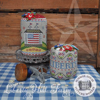 Summer House Stitche Workes - Liberty Hill Farm-Summer House Stitche Workes - Liberty Hill Farm, USA, pariotic, America, drum, cross stitch