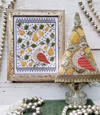 Hello From Liz Mathews - First Day Of Christmas Sampler & Tree-Hello From Liz Mathews - First Day Of Christmas Sampler  Tree, 12 days of Christmas, decorations, partridge in a pear tree, ornaments, cross stitch