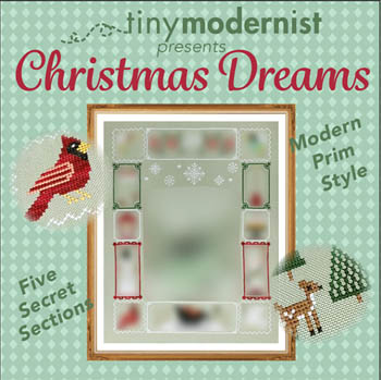 Tiny Modernist - Christmas Dreams - Border-Tiny Modernist - Christmas Dreams 1, border, SAL, deer, snowflakes, winter, home, cross stitch