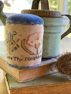 Hands To Work - Love Thy Neighbor-Hands To Work - Love Thy Neighbor, Primitive, drum, nice, neighborly, cross stitch
