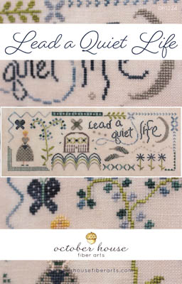 October House - Lead A Quiet Life-October House - Lead A Quiet Life, home, calm, goodness, flowers, cross stitch