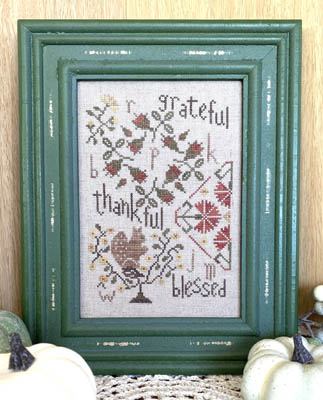 From The Heart - Grateful Quaker-From The Heart - Grateful Quaker, squirrel, roses, flowers, cross stitch